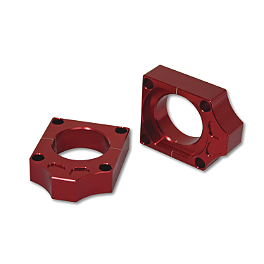 Turner Axle Blocks - 2006 Honda CRF450R Turner Rear Wheel Spacers - Red