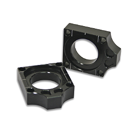Turner Axle Blocks - 2005 Kawasaki KX250F Turner Oversized Bar Mounts With Renthal Fat Bar Combo