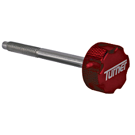 Turner Billet Air Filter Bolt - Red - 2007 Honda CRF450X Turner Oversized Bar Mounts With Renthal Fat Bar Combo