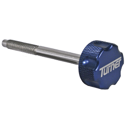 Turner Billet Air Filter Bolt - Blue - 1999 Yamaha YZ400F Turner Oversized Mounts With Renthal Twinwall Handlebar Combo
