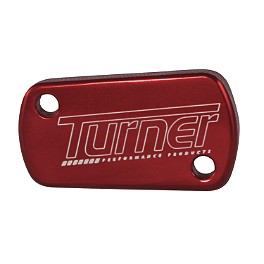 Turner Front Reservoir Cap - 2005 Honda CR85 Big Wheel Turner Billet Air Filter Bolt - Red