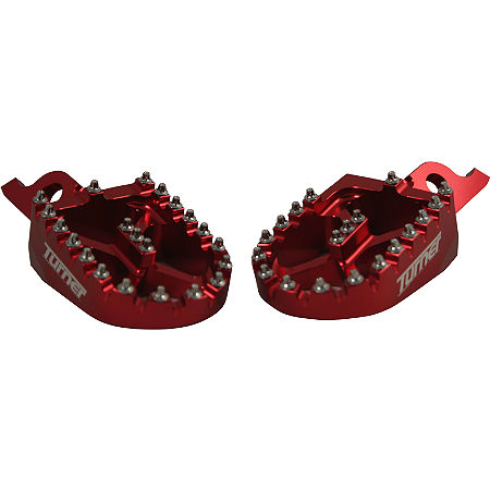 Turner Billet Aluminum Footpegs - Red