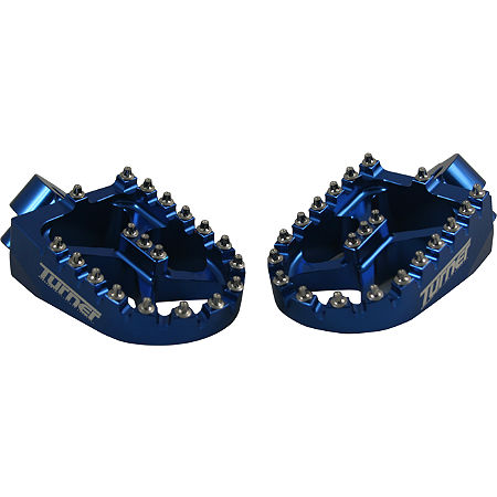 Turner Billet Aluminum Footpegs - Blue