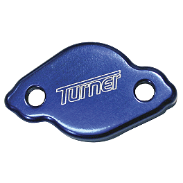 Turner Rear Reservoir Cap - 2004 Yamaha YZ250F Turner Adjust On The Fly Clutch Lever & Perch With Hot Start - Silver