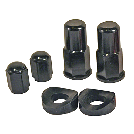 Turner Rim Lock/Valve Stem Kit - Acerbis Number Plate Cable Guide - Black