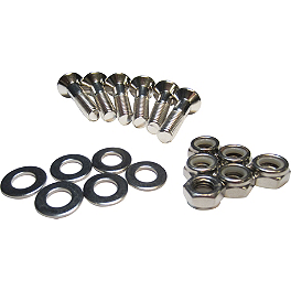 Turner Sprocket Bolt Kit - 2009 Honda CRF450X Turner Billet Air Filter Bolt - Silver