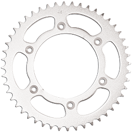 Turner Steel Sprocket - Rear - 2008 Kawasaki KX250F Turner Adjust On The Fly Clutch Lever & Perch With Hot Start - Silver