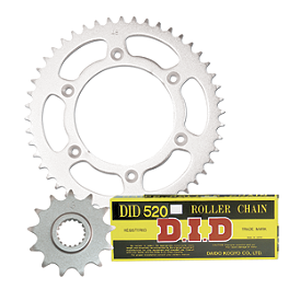 Turner Steel Sprocket & Chain Kit - 1990 Kawasaki KDX200 Sunstar HDN Chain & Steel Sprocket Combo