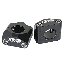 Turner Universal Bar Mounts - Oversized 1-1/8 Bars - 2007 Kawasaki KX250F Turner Oversized Bar Mounts With Pro Taper Contour Handlebar Combo