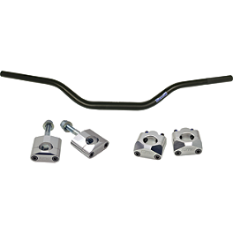 Turner Oversized Bar Mounts With Renthal Fat Bar Combo - 2008 Honda CRF150R Big Wheel Turner Engine Timing Plugs