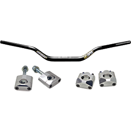 Turner Oversized Bar Mounts With Pro Taper Contour Handlebar Combo - 2012 Honda CRF150R Big Wheel Turner Adjust On The Fly Clutch Lever & Perch With Hot Start - Silver