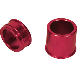 Turner Front Wheel Spacers - Red - 2012 Honda CRF450R Turner Axle Blocks
