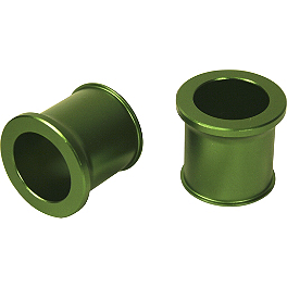Turner Front Wheel Spacers - Green - 2010 Kawasaki KX250F Turner Oversized Bar Mounts With Renthal Fat Bar Combo