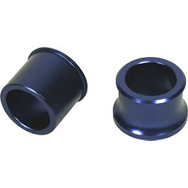 Turner Front Wheel Spacers - Blue - 2005 Yamaha WR450F Turner Oversized Bar Mounts With Fasst Flexx Handlebar Combo