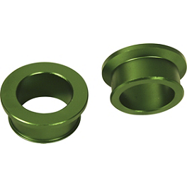 Turner Rear Wheel Spacers - Green - 2010 Kawasaki KX250F Turner Oversized Bar Mounts With Pro Taper Evo Handlebar Combo