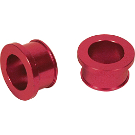 Turner Rear Wheel Spacers - Red - 2005 Suzuki RMZ450 Turner Adjust On The Fly Clutch Lever & Perch With Hot Start - Silver