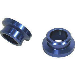 Turner Rear Wheel Spacers - Blue - 2004 Yamaha YZ250F Turner Adjust On The Fly Clutch Lever & Perch With Hot Start - Silver
