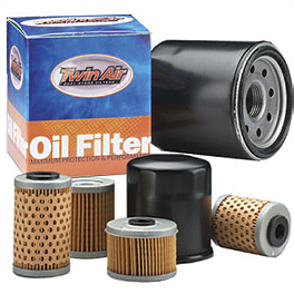 Twin Air Oil Filter - 1999 Yamaha WR400F PC Racing Flo Stainless Steel Oil Filter