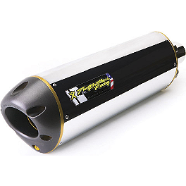 Two Brothers M-2 V.A.L.E. Slip-On Exhaust - Aluminum - Leo Vince SBK Oval Evo II Slip-On - Aluminum With Conical End Cap
