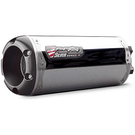 Two Brothers M-2 Silver Series Slip-On Exhaust - Aluminum - Two Brothers M-2 Silver Series Slip-On Exhaust - Carbon Fiber