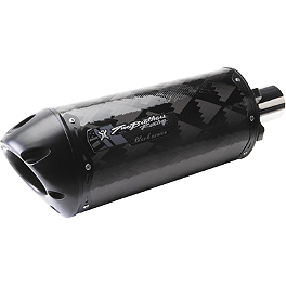 Two Brothers M-2 Black Series Slip-On Exhaust Long Silencer - Carbon Fiber - K&N Cartridge Oil Filter