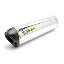 Two Brothers M-2 Oval Dual Aluminum Slip-Ons - Two Brothers M-2 V.A.L.E. Slip-On Exhaust - Aluminum Single