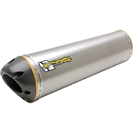 Two Brothers M-2 V.A.L.E. Slip-On Exhaust - Titanium - Puig Racing Windscreen - Clear