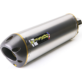 Two Brothers M-5 V.A.L.E. Slip-On Exhaust - Titanium - Akrapovic Slip-On EC Type Exhaust - Titanium Oval