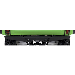 Kawasaki Genuine Accessories Rear Bumper - Wrinkle Black - Kawasaki Genuine Accessories Bumper Braces - Aluminum