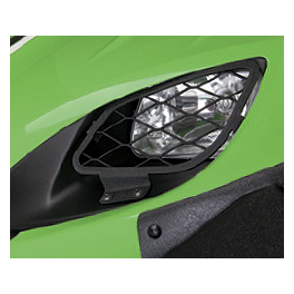Kawasaki Genuine Accessories Headlight Guards - Wrinkle Black - Kawasaki Genuine Accessories Center Console