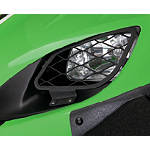 Kawasaki Genuine Accessories Headlight Guards - Brushed Aluminum - Kawasaki OEM Parts Utility ATV Grills
