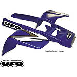 UFO Front Left Plastic - Black - ATV Exhaust Pipes