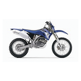 UFO Rear Fender With Light - Blue - 2003 Yamaha WR450F Baja Designs EZ Dual Sport Kit Electric Start