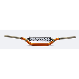 "KTM Exclusive Orange Renthal Twinwall Handlebars - Oversized 1-1/8"" - KTM OEM Factory Plastic Kit - White"