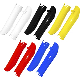 UFO Fork Guards - UFO Mud Flap - White