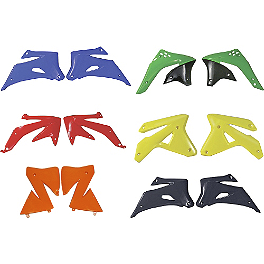UFO Radiator Shrouds - 1988 Kawasaki KX500 Factory Effex All-Grip Seat Cover