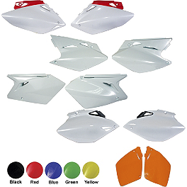 UFO Side Panels - 2008 Honda CRF450X UFO Mud Flap - Black