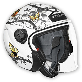 Vega Phantom Helmet - Butterfly - Yana Shiki LRC Engraved Billet Clutch Cover With Window - Black