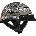 Vega XTA Helmet - Born To Ride -  Half Shell Cruiser Helmets