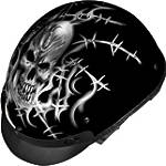Vega XTA Helmet - Barbed Skull -  Half Shell Dirt Bike Helmets