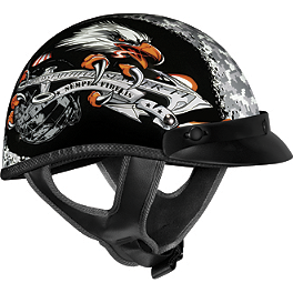 Vega XTA Helmet - Semper Fi - River Road Grateful Dead Helmet - Steal Your Face Storm