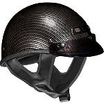 Vega XTS Helmet - Carbon Fiber Graphic -  Half Shell Dirt Bike Helmets