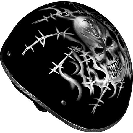 Vega XTS Naked Helmet - Barbed Skull - Main