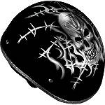 Vega XTS Naked Helmet - Barbed Skull - Dirt Bike Products