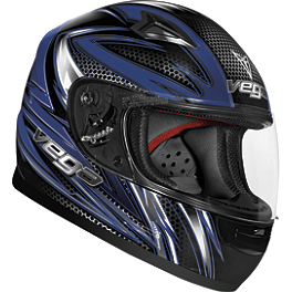 Vega Youth Mach 2.0 Jr. Helmet - Razor - HJC CL-Y Youth Helmet - Razz
