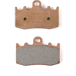 Vesrah Racing Sintered Metal Brake Pad - Front - 2002 Honda Shadow VLX Deluxe - VT600CD Vesrah Racing Semi-Metallic Brake Shoes - Rear