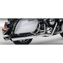 Vance & Hines Bagger Duals Exhaust - 2004 Kawasaki Vulcan 1500 Nomad Fi - VN1500L MC Enterprises Saddlebag Top Racks