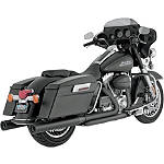 "Vance & Hines 4"" Blackout Rounds Slip-On Exhaust - Black - Vance and Hines Cruiser Products"