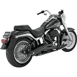 Vance & Hines Big Radius 2-Into-1 Exhaust - Black - 2010 Harley Davidson Dyna Super Glide Custom - FXDC Vance & Hines Big Radius 2-Into-2 Exhaust - Black