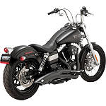 Vance & Hines Big Radius 2-Into-1 Exhaust - Black - Vance and Hines Cruiser Products